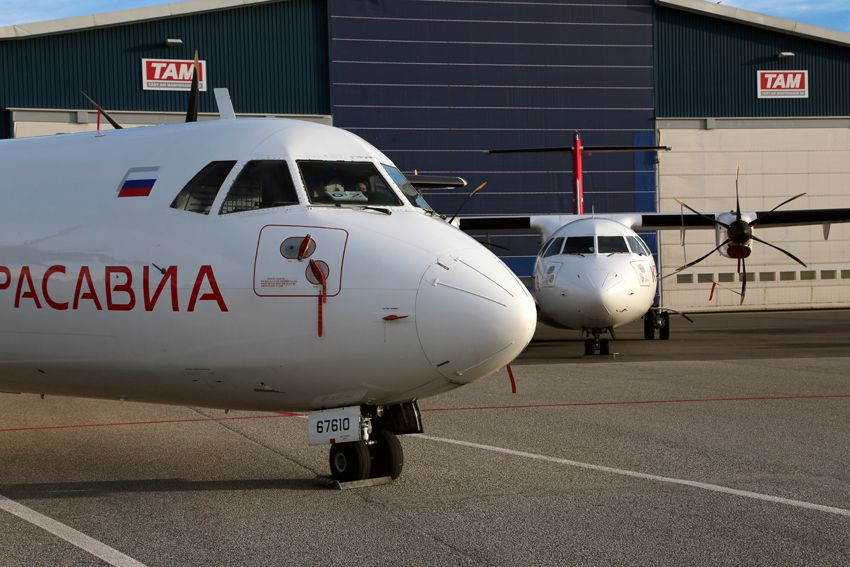TAM delivers two ATR 72s to KrasAvia
